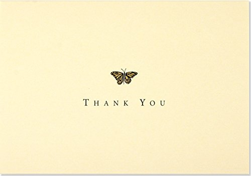 - Gold Butterfly Thank You Notes (Stationery, Note Cards) (Note Card Series)