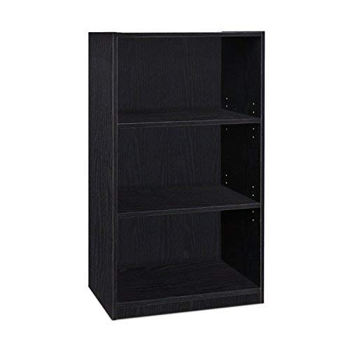 Furinno Jaya Simple Home 3-Shelf Bookcase, Black