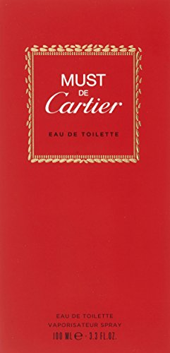 (Must De Cartier By Cartier For Women. Eau De Toilette Spray 3.3 oz (Packaging may)