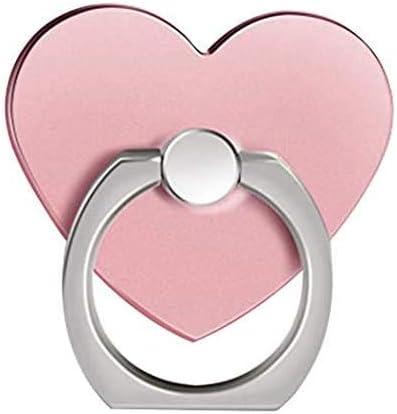 MuStone - Soporte de anillo para teléfono móvil, diseño de corazón, rotación de 360 grados, para todos los smartphones, iPhone, Samsung