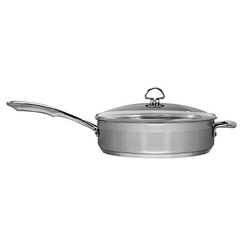Chantal SLIN34-280 Induction 21 Steel Saute Skillet with Glass Tempered Lid (5-Quart) by Chantal (Image #1)