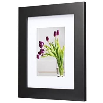 Better Homes Gardens Museum Picture Frame 14x18 Matted To 11x14 Black Cell
