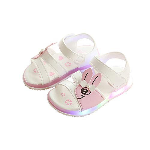 unyielding1 LED Light up Shoes Kids Girls Boys Breathable Flashing Slip-On Sandals