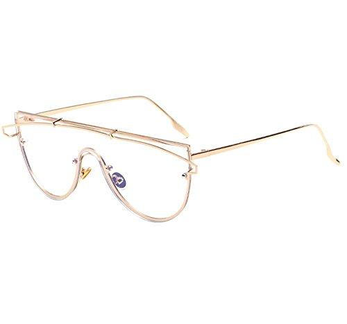 Y Tendencia Pieza Nuevas Gafas Sol Sol 2018 Americana Personalidad De De Protección Gafas UV De De Europea Océano De Océano 1 Lente Una 4 Película De ZZOPwq