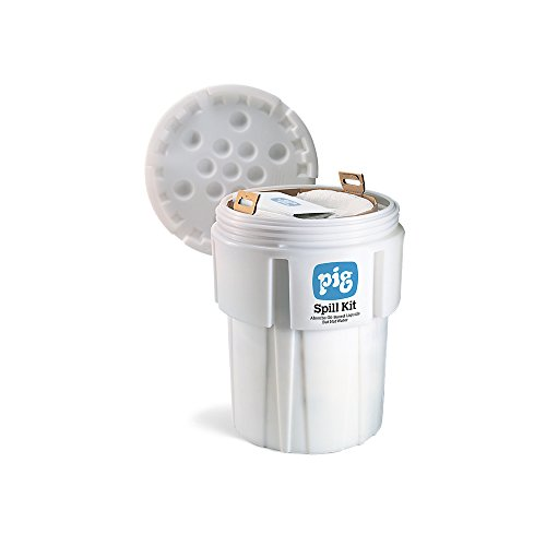 Oil-Only Spill Kit in 65-Gallon Overpack Salvage Drum, Absorbs Oil-Based Liquids, Repels Water, 39-Gal Absorbency, New Pig KIT443 (Overpack Spill Kit)