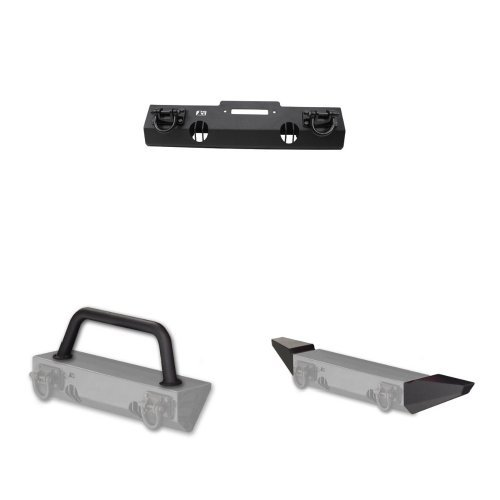 Rugged Ridge XHD Front Bumper Kit with Over-Rider and Bumper Ends For Jeep JK Wrangler