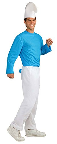 The Smurfs Movie Adult Smurf Costume, Blue/White, Standard]()