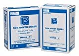 Premier Absorbent Non-Woven Sterile Swab, 4 Ply, 10 x 10 cm, 5 per Pouch, Pack of 25