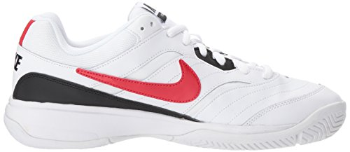 Nike Men's Court Lite Tennis Shoe, White/University red/Black, 7.5 D US by Nike (Image #7)