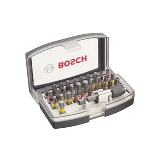 Bosch Professional 32tlg. Schrauberbit Set (Extra Hart-Schrauberbit, Zubehör Bohrschrauber und Schraubendreher) 9