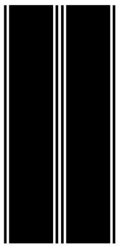 (Vehicleartz Black Rear Panel Decal fit Dodge, Ford, Chevrolet and More Trucks - 3 Stripe Version )