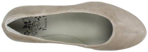 Think Nolita 80200 - Zapatos de tacón de cuero para mujer Beige (Beige (jute 18))
