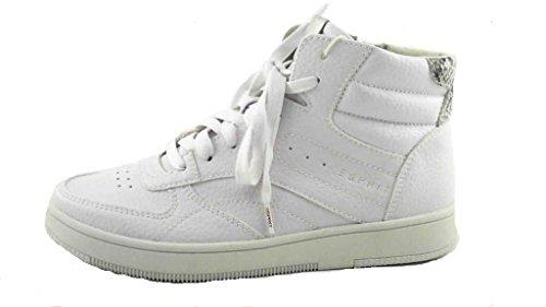 Esprit, 016EK1W032, Desire Bootie, Damen hohe Sneaker, weiß (100) Weiß