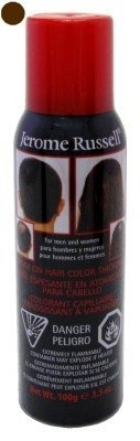 (Jerome Russell Spray-On Color Med Brown Hair Thickener 3.5oz (6)