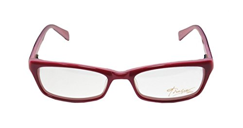 Thalia Alina WomensLadies Ophthalmic Durable Designer Full-rim Spring Hinges EyeglassesSpectacles (52-16-140 Raspberry  Rose)