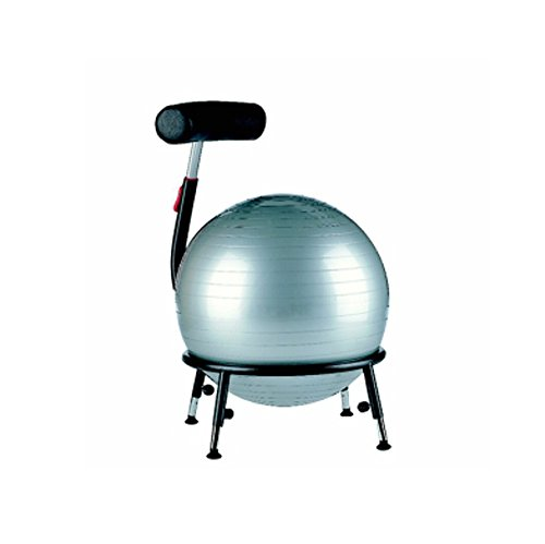 Sitzball-Stuhl Pallone 2 - mit Gleitern rot