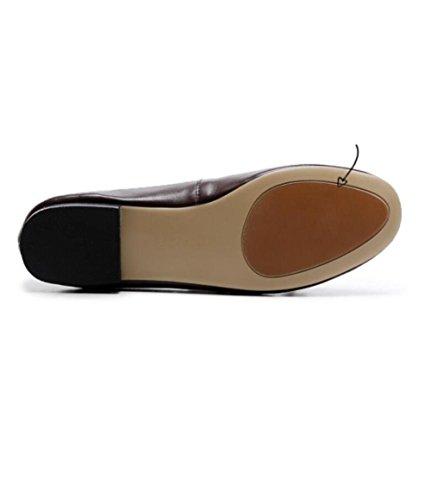 Plana de ZFNYY Suaves Borla Los la de Alrededor Las Redonda con los Conducción Zapatos de Mujeres Cabeza Antideslizantes la de Zapatos RROwqrExC