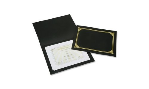 AbilityOne - Gold Foil Stamped Certificate Document Cover - Black 7510-01-519-5770