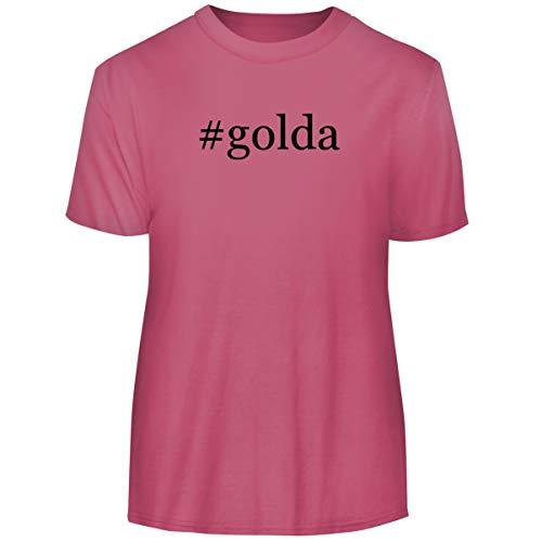 One Legging it Around #Golda - Hashtag Men's Funny Soft Adult Tee T-Shirt, Pink, XXX-Large