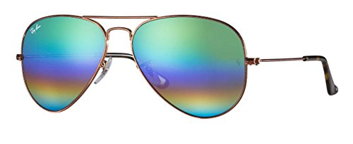 Ray Ban RB3025 9018C3 58M Bronze/Copper/Light Grey Mirror Rainbow 2