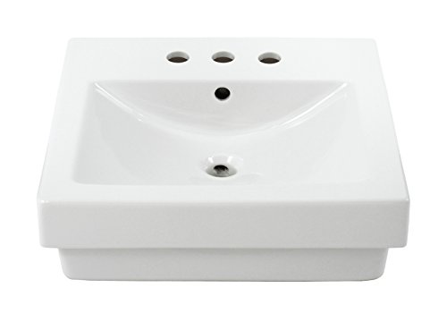 TOTO LT155.8#01 Vernica Design Self Rimming Lavatory and 8-Inch Centers, Cotton ()