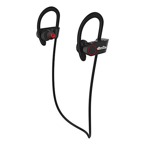 Bluetooth Headphones,ALLIMITY Wireless Sports Earphones with Mic Sweatproof In Ear Earbuds Headset for Gym, Running, Cycling, Jogging(Black)[Upgraded Version]