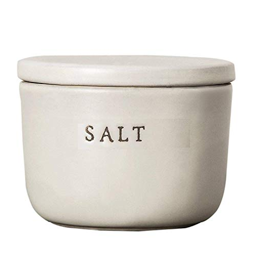 (Hearth and Hand Salt Cellar - Stoneware - Cream - By Chip and Joanna Gaines - Magnolia Marker)