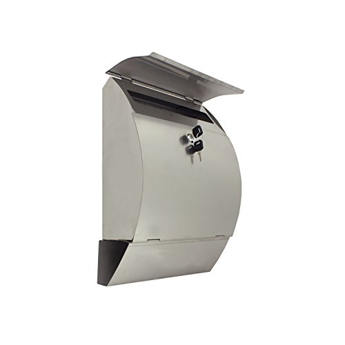 ALEKO USMB-04 Wall Mounted Mail Box with Retrieval Door Newspaper Compartment and 2 Keys by ALEKO