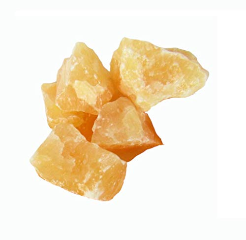 5 Piece Natural Orange Calcite Crystals (1