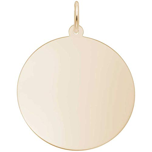 Rembrandt Charms Disc Charm, 10K Yellow Gold