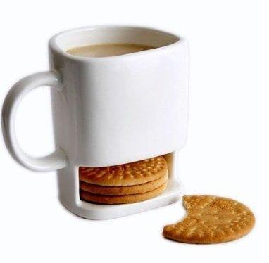 250ml Dunk Mug - Ceramic Cookies Mug with Biscuit holder (Coffee Mug Cookie Holder)