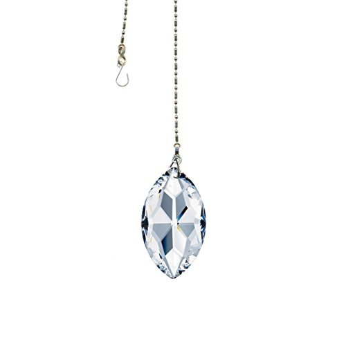 Austrian Crystal Stones - Swarovski Crystal 50mm (2'') Clear Lead Free Oval Sun Catcher Austrian Crystal with Certificate