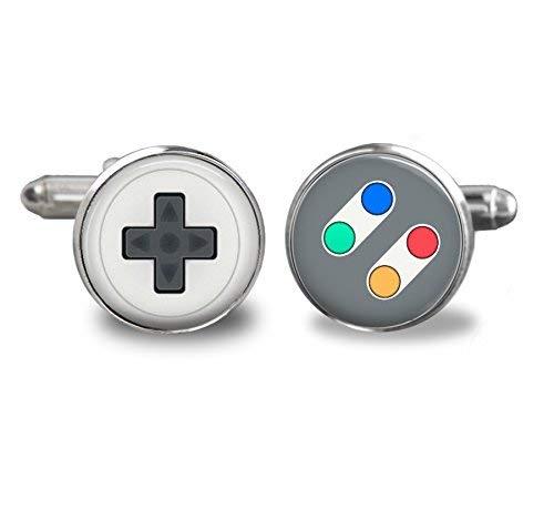 Video Game Controller Buttons Cufflinks Handmade 16mm Gamer Stainless Steel
