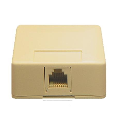 ICC Surface Mount Jack 6 Position 6 Conductor Ivory