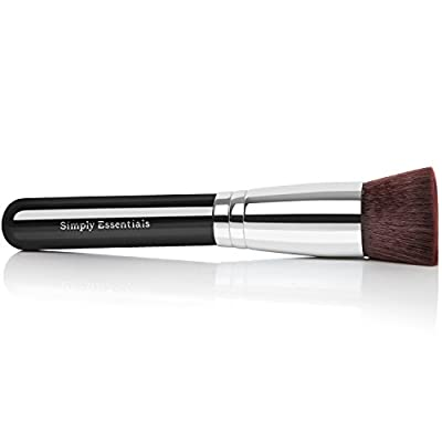 "Kabuki Makeup Brush ★4.9 Out of Five Stars★ Free Ebook Included ""The Secret to Using a Kabuki Brush"". Professional Quality, Very Dense, Soft Bristle Brush, Natural Look Blender Brush with Dense Vegan Bristles. Great for Professional Make up Look. Use"