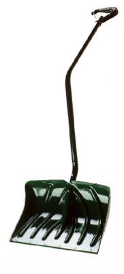 Arctic Blast Snow Pushers - Suncast SC3250 18-Inch Snow Shovel/Pusher Combo with Ergonomic Shaped Handle And Wear Strip, Green