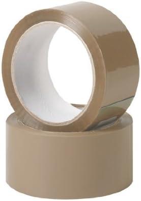 Ruban adh/ésif pour la mise en carton marron 66 m x 48 mm