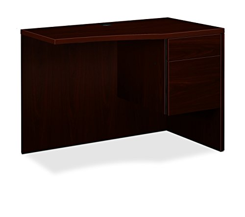 HON 105810NN 10500 Series 18 by 36 by 29-1/2-Inch Curved Corner Workstation Desk, Mahogany by HON