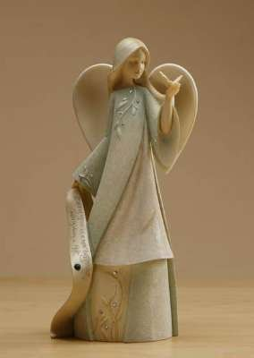 - Foundations May Monthly Angel Stone Resin Figurine, 7.5