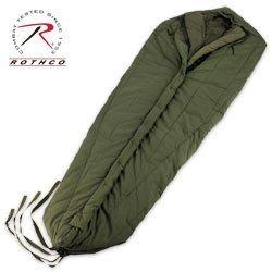 952 G.I. STYLE INTERMEDIATE WEIGHT O.D. MUMMY SLEEPING BAG, Outdoor Stuffs