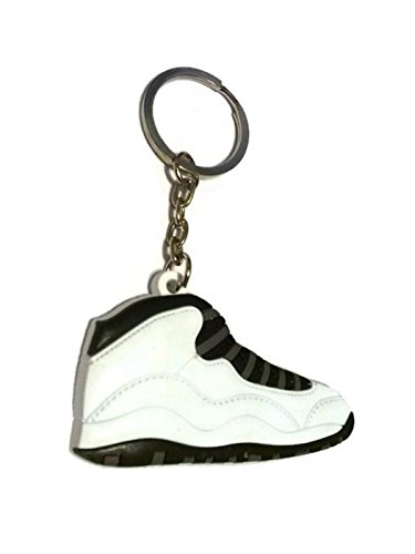 Air Jordan 10 X AJ10 Retro Steel White/Gray Key Chain Ring Keychain Undefeated X]()