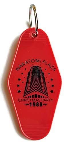 Nakatomi Plaza Christmas Pary 1988 Die Hard Red/Black Inspired Key Tag