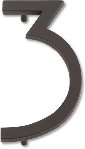 Style House Numbers (Atlas Homewares AVN3-O Modern Avalon House Number, Three, Aged Bronze)