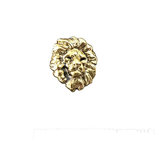 Creative Pewter Designs Lion Head 22K Gold Plating Pin, MG102MP