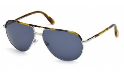Tom Ford M-SG-1716 FT0285-S Cole 53V - Havana Brown & Silver Mens Sunglasses, 61-13-135 - Ford Tom Cole Sunglasses
