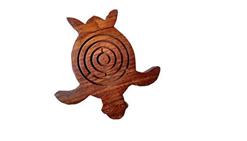 ShalinIndia Game Labyrinth, Ball-in-a-Maze Puzzles, Handcrafted in India - Round (Brain Real Teaser)