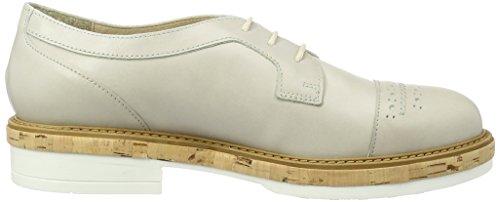 Manas Santorini, Zapatos de Cordones Derby Mujer Marfil (GHIACCIO)