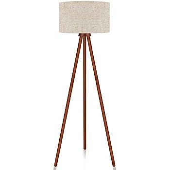 Lepower Wood Tripod Floor Lamp