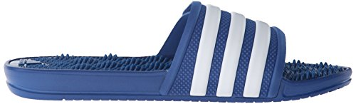Adidas Performance Mens Adissage 2.0 Stripes Sandalo Blu / Bianco / Attrezzature Blu
