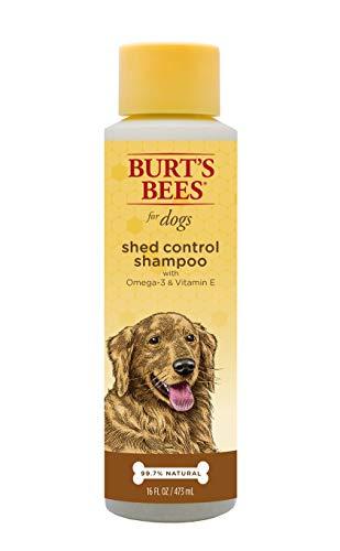 Natural Shed Control Shampoo with Omega 3s and Vitamin E | Puppy and Dog Shampoo, 16 Ounces ()